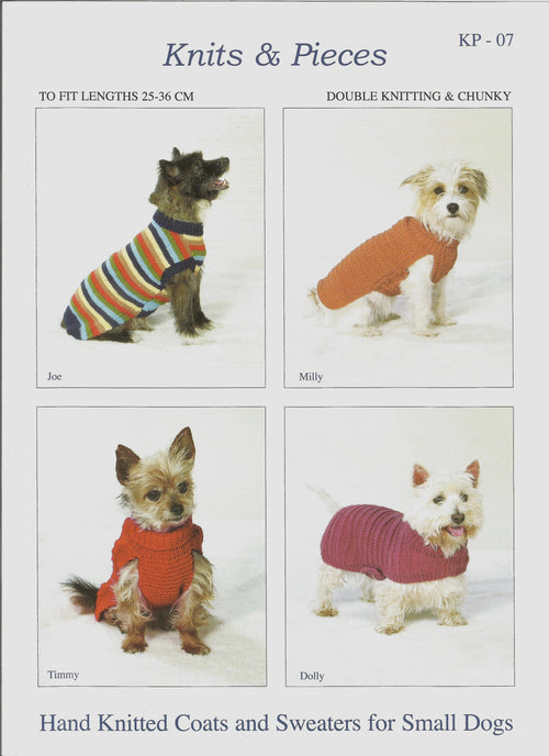Knits & Pieces KP07 Hand Knitted Coats & Sweaters for Small Dogs