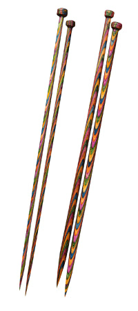 KnitPro Symfonie Wood Single Point Knitting Needles - 25cm (Pair) - Knit One Purl One Yarns