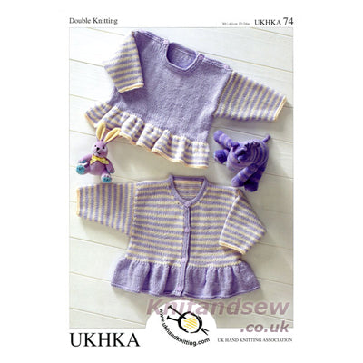 UKHKA 74 Knitting Pattern - Knit One Purl One Yarns