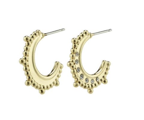 PILGRIM - SINCERITY SMALL CRYSTAL HOOP EARRING
