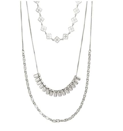 PILGRIM - SILVER JOY LAYERED NECKLACE