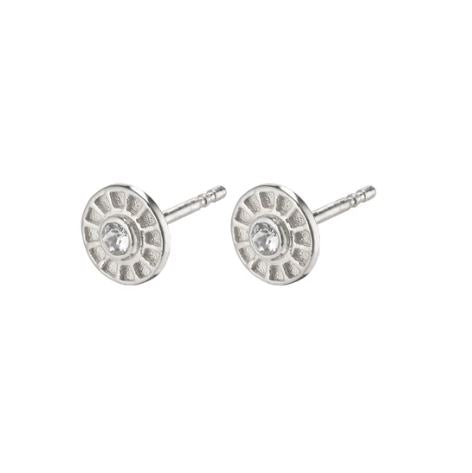 PILGRIM - SILVER PLATED FIA STUD EARRING