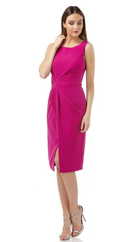 JS GROUP - SLEEVELESS PLEATED WAIST DRESS