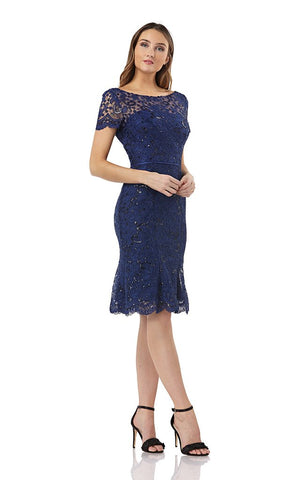 JS GROUP - SEQUIN LACE COCKTAIL DRESS