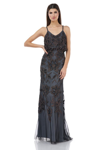 JS GROUP - BEADED BLOUSON GOWN