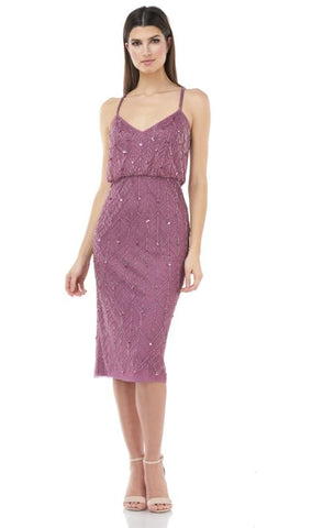JS GROUP - BEADED POPOVER DRESS
