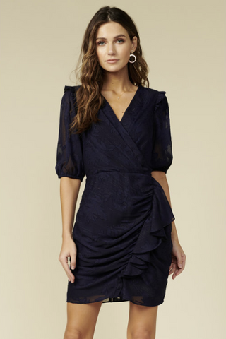 ADELYN RAE: ADRIANNA WRAP DRESS