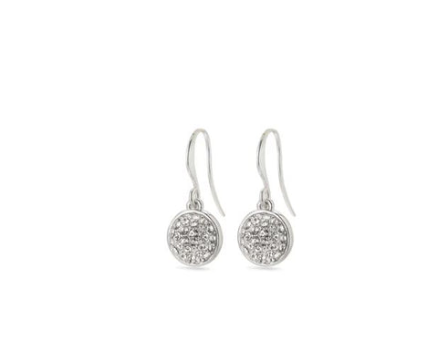 PILGRIM - HEATHER SILVER PLATED CRYSTAL EARRING