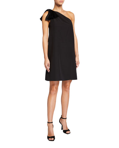 AIDAN MATTOX: ONE SHOULDER TRAPEZE DRESS