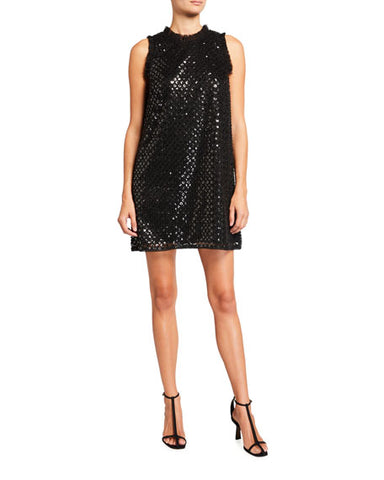 AIDAN MATTOX: SEQUIN EMBROIDERED MINI DRESS