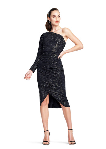 AIDAN MATTOX: ONE SHOULDER SPARKLE DRESS