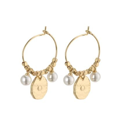 PILGRIM: AFFECTION GOLD PLATED EARRING