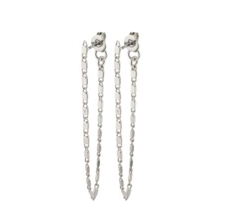 PILGRIM: SILVER INTUITION CHAIN EARRING
