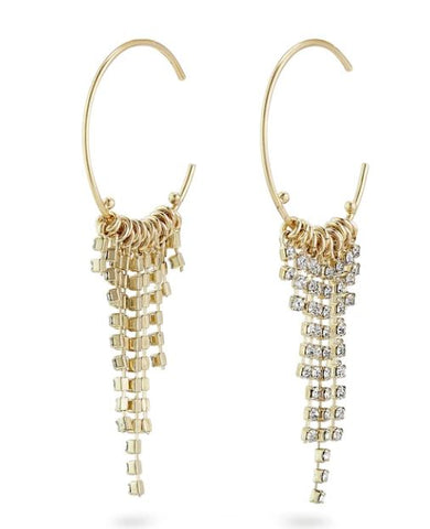 PILGRIM - URD CRYSTAL DROP EARRING