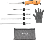Pro Stainless Steel Electric Fillet Knife With 5 Blades and Glove