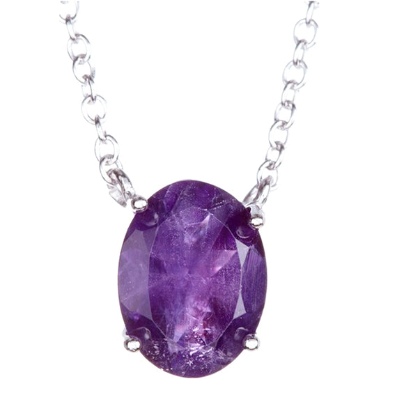Genuine Amethyst Pendant Necklace