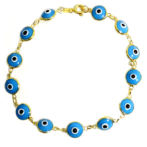 18K Gold Plated Evil Eye Bracelet