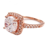 18K Rose CZ Ring