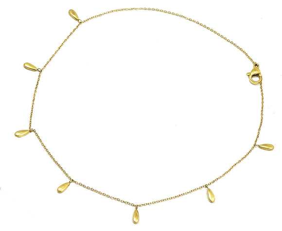 18K Gold plated drop anklet
