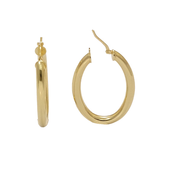 Gold Plated Oval Hoops