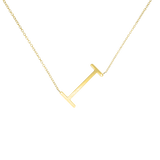 18K Plated Statement Initial Letter Necklace - A - Z