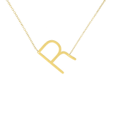 14K Statement Inital Letter Necklace - Multiple Options