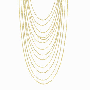Multi-Layer 18K Hammered Disc Fashion Necklace