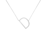 18K White Gold Plated Statement Initial Letter Necklace - A - Z