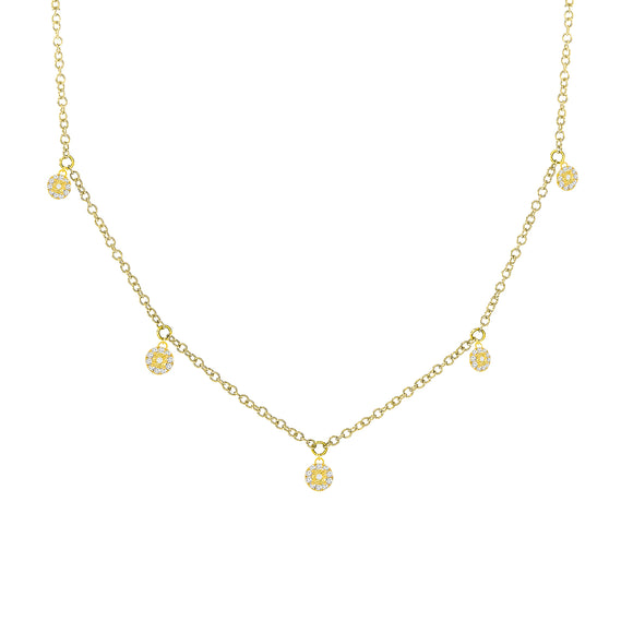 18K Vermeil Dangling Diamond Choker