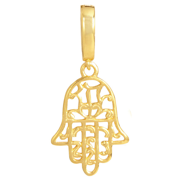18K Gold Plated Hamsa Removable Charm with Latch