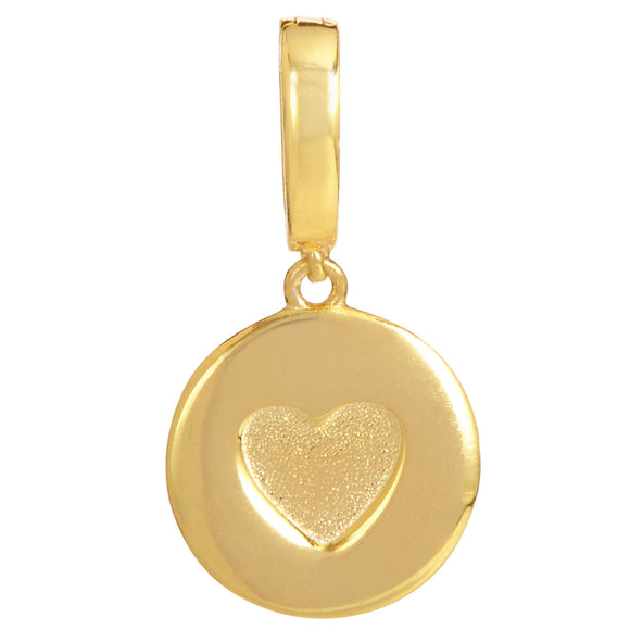 18K Gold Vermeil Heart Removable Charm with Latch