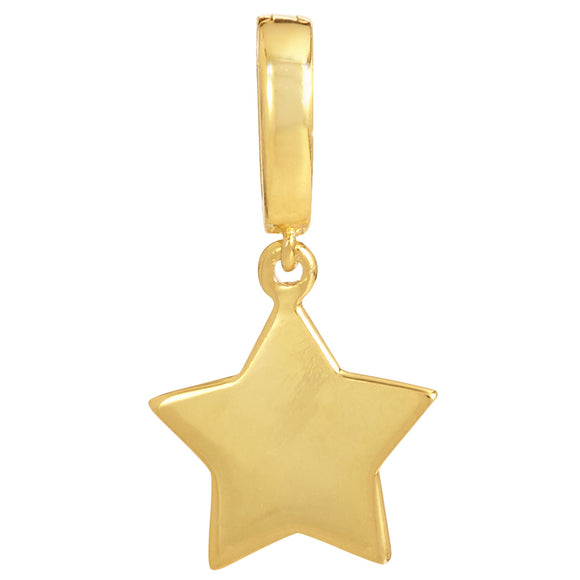 18K Gold Plated Star Removable Charm with Latch