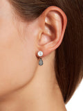 Front to Back Two-Piece Pearl & CZ Drop Stud Earrings