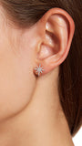 Sterling Silver CZ Starburst Earrings
