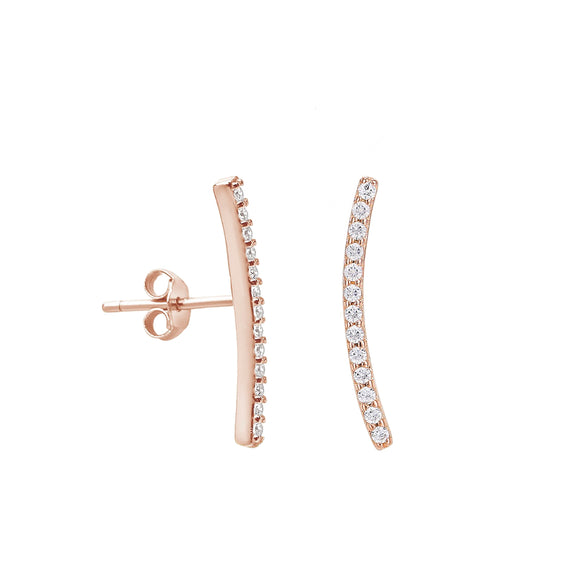 Crescent Moon Curve Stud Earring