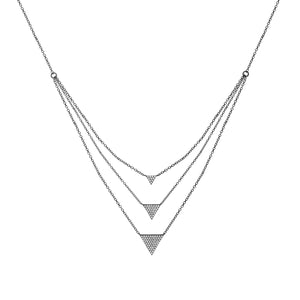 Triple Triangle CZ Layered Necklace