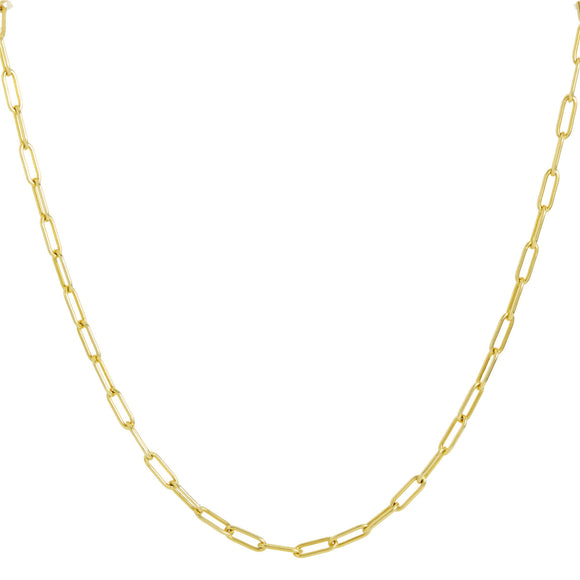 18K Italian Gold Vermeil Paperclip Necklace