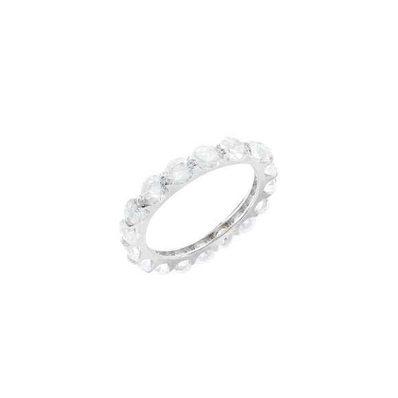 Sterling Silver Vermeil CZ Eternity Band