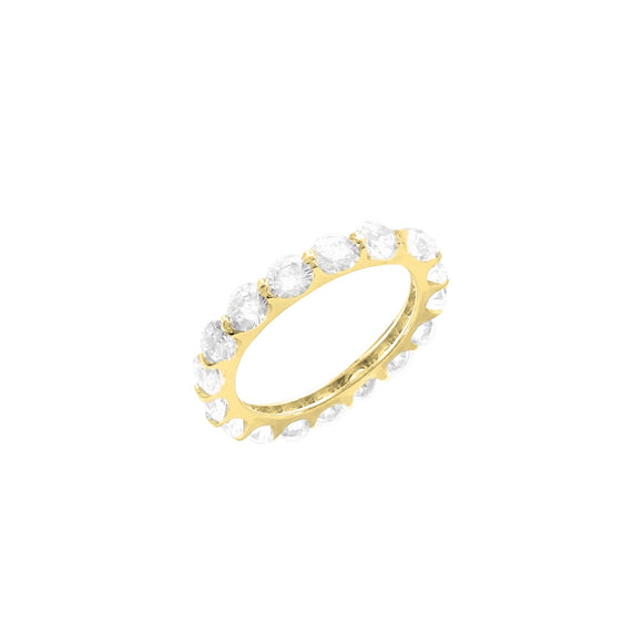 18K Yellow Gold Vermeil CZ Eternity Band