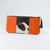 Heroe Clutch Orange Leather handle