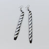 Omuka Long Earring Zebra