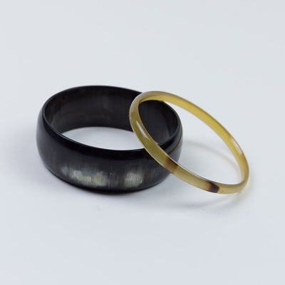 Amaka Bangle - Set of 2 Black