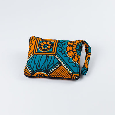 Kakira Kitenge Eco Tote - Orange - oboralux