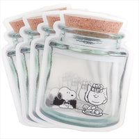 Snoopy Clear Jar Zipper Bag- Snack Time
