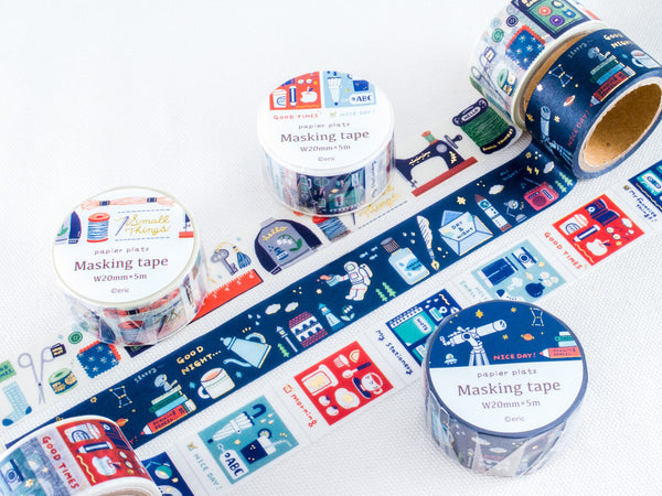 Eric Small Things Japanese Washi Masking Tapes with Gold Foil