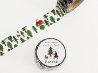 Japanese Washi Masking Tape - Forest by Nishi Shuku
