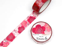 Kimono Beauty Yuzen Washi Masking Tape - Year Reiwa Special Plum Flower