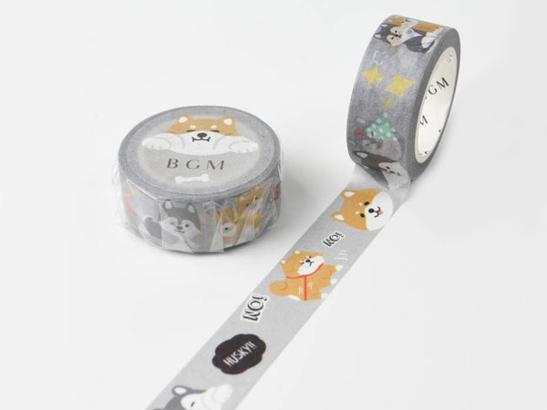 BGM Japan Washi Masking Tape - 15mm Shiba Dog