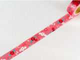 Japanese Washi Masking Tape - Camellia Flower (ROMANTIC & MODERN series)