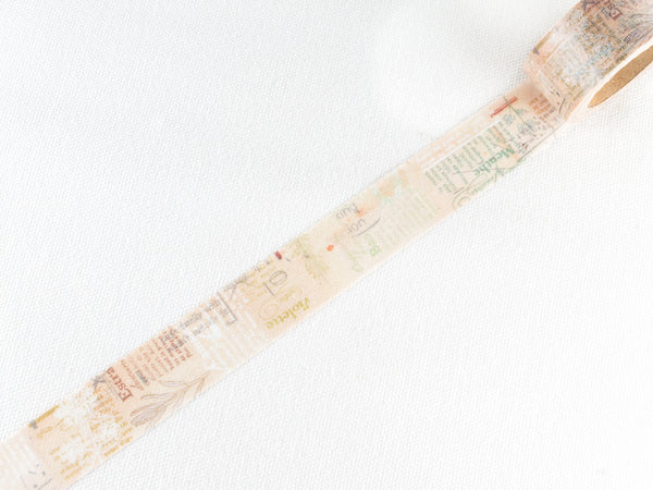 REMAKE Little Path / Chamil Garden Washi Masking Tape - Flower Note